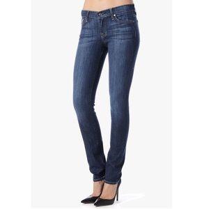 7FAM Roxanne Embellished Straight Leg Jeans 27